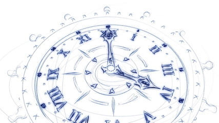 Sketch Of Time-Lapse Clock