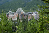 Fototapety The famous Banff Spring Hotel in the Canadian Rockies