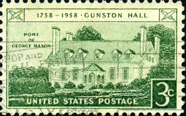 Home of George Mason. 1758-1958. US Postage.