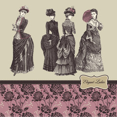 Elegant vintage ladies