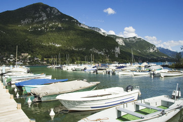Marina of Annecy's lake