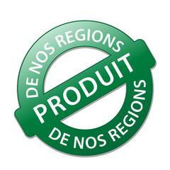 Tampon PRODUIT DE NOS REGIONS (terroir biologique local naturel)