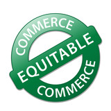 Tampon COMMERCE EQUITABLE (responsable solidaire label garantie) poster