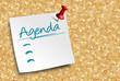 Zettel Korkwand Agenda