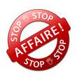 Tampon STOP AFFAIRE (offre spéciale soldes étiquette marketing)