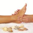 Fußmassage reflexzonenmassage quadratisch