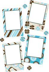 Template photo frames, vector