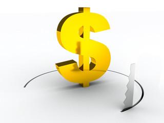 dollar financial crisys concept