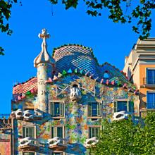Casa Battlo in Barcelona - Spanien, entworfen von; Antoni Gaudi