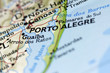 Porto Akegre in Brazil on the Map