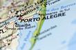 Porto Akegre in Brazil on the Map