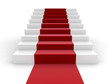 Staircase and red carpet - 36071267