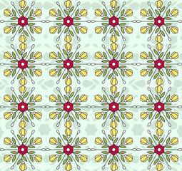Flowers vintage vector pattern wallpaper