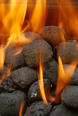 charcoal barbecue briquettes