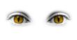 Yeux jaunes catwoman - fond blanc