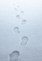 boot traces in the snow