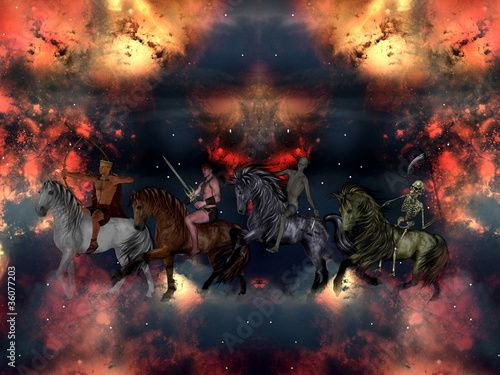 canvas print picture The Four Horsemen of the Apocalypse.