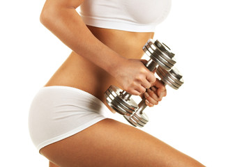 Body with dumbbells