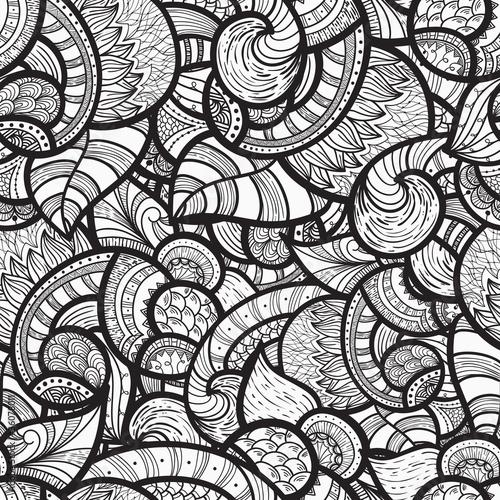wektor bezszwowe etniczne doodle wzór