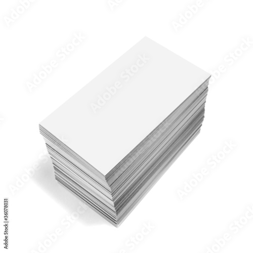 White business cards isolated on white