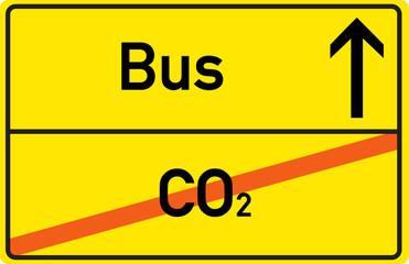 Bus fahren - Co2 sparen