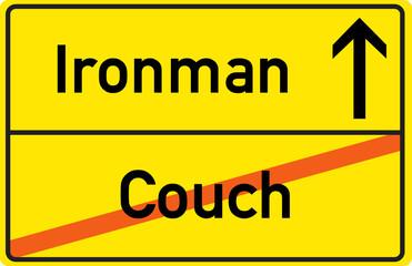 Schild Ironman Couch