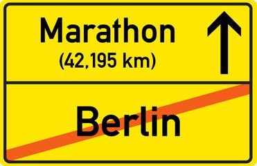 Schild Marathon Berlin