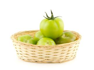 Tomato Queen in basket - success concept