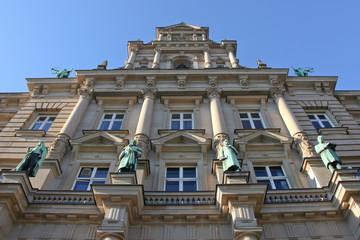 Detailaufnahme vom Hamburger Justizgebäude