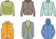 Men's clothes - Vector color illustration