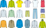 Men's clothes isolated - Vector