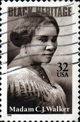 Black Heritage. Madam CJ Walker. USA.