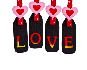 Love on clothespin