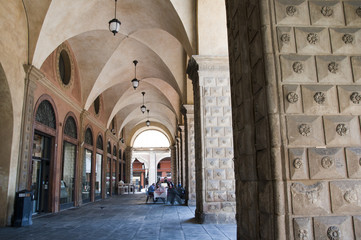 Cool colonnade in Bologna Italy