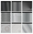 Metal texture 9 set. Illustration vector