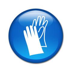 Boton brillante simbolo guantes