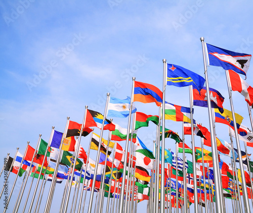 The World Each Nation National flags
