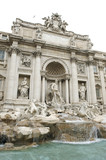 Rome One of the most famous landmarks - Trevi Fountain poster