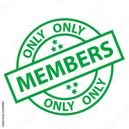 MEMBERS ONLY Stamp (free membership registration loyalty offers)