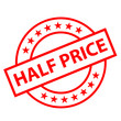"""HALF PRICE"" Marketing Stamp (special offer red ink tag savings)"