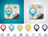 Fototapety Customizable map location icon
