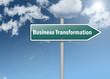 "Signpost ""Business Transformation"""