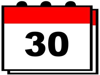 Día 30 del calendario.