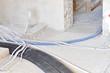 Baustelle - Kabel und Kabelkanallegung