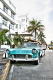 Fototapety Classic american car on South Beach, Miami