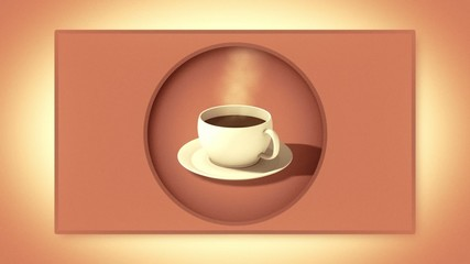 Cup of coffee. Background