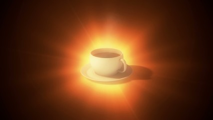 Cup of coffee. Light