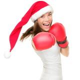 Christmas boxing woman - 36097858