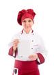 Chef con Menù del Giorno - Isolated
