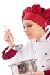 Chef che assaggia dal mestolo - Isolated